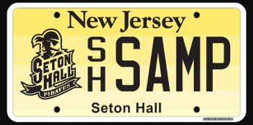 Photo of Seton Hall license plate