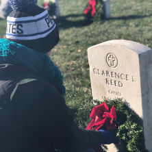 Pirates laying wreaths at Arlington National Cemetery.