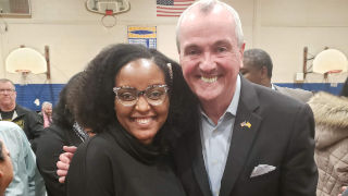 Photo of student Fabienne Edouard and Governor Phil Murphy