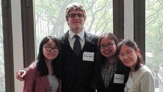 Students and professor at presenting at International Language Conference