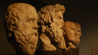 Photo of sculptures of philosophers