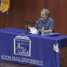Slavoj Žižek giving lecture