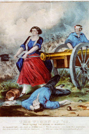 Molly Pitcher, Battle of Monmouth 1778.