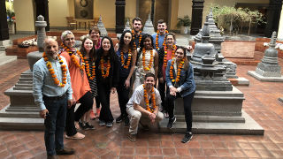 Students in India during the Doing Business in India Trip