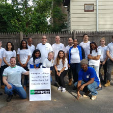 Habitat for Humanity with Enterprise Volunteer