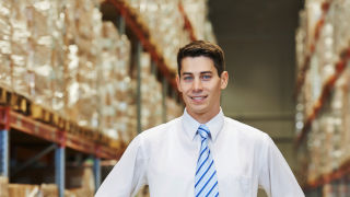 Student at a supply chain