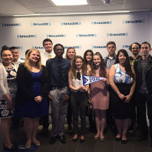 Photo of students on a Career Center field trip to Sirius XM