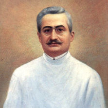 Painted portrait of Saint Giuseppe Moscati