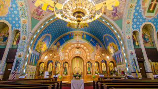 Inside chapel of a Ukrainian Church
