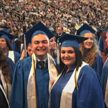 Photo of graduating students Nicholas and Jessica Romano