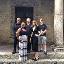 Jason Tramm and students of the music program in Italy this summer.