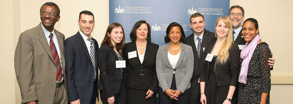 Susan Rice with students
