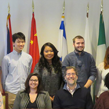 A group of young student leaders from the School of Diplomacy and International Relations.