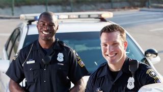 Police Officers smiling in uniform