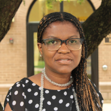 Portrait photo of Teresitia Walters on campus.