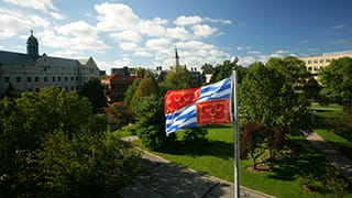 Seton Hall Campus and Flag