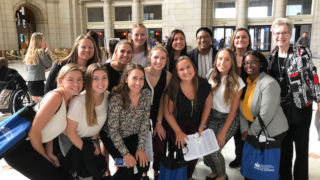 Group of occupational therapy students on Capitol Hill