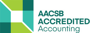 AACSB Accredited Accounting logo.