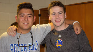 Incoming freshmen, Alex LaRosa and Ryan Hunt, on Move-in-Day.