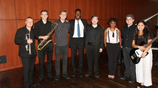 Photo of the alumni jazz band
