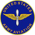 The Aviation seal is a blue circle with golden wings in the center.