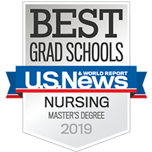 The U.S. News Best Grad School Nursing Degree badge for the MSN in Pediatrics.