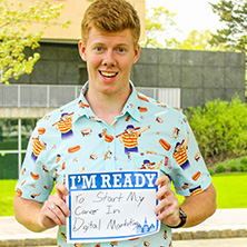 Brendan Kane participating in Seton Hall's I'm Ready Campaign.