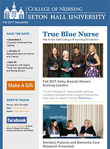 true blue nurse seton hall university