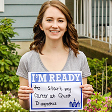 Caroline Weeks participating in Seton Hall's I'm Ready Campaign.