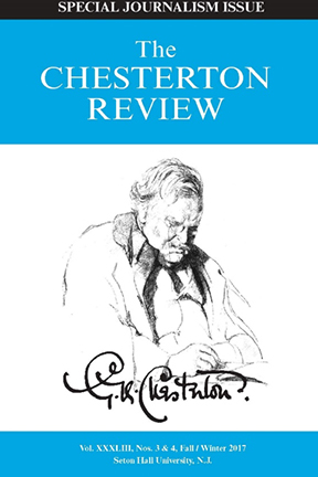 The Chesterton Review Vol. XLIII Nos. 3 & 4