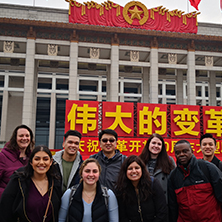 Group photo taken from China study tour x222