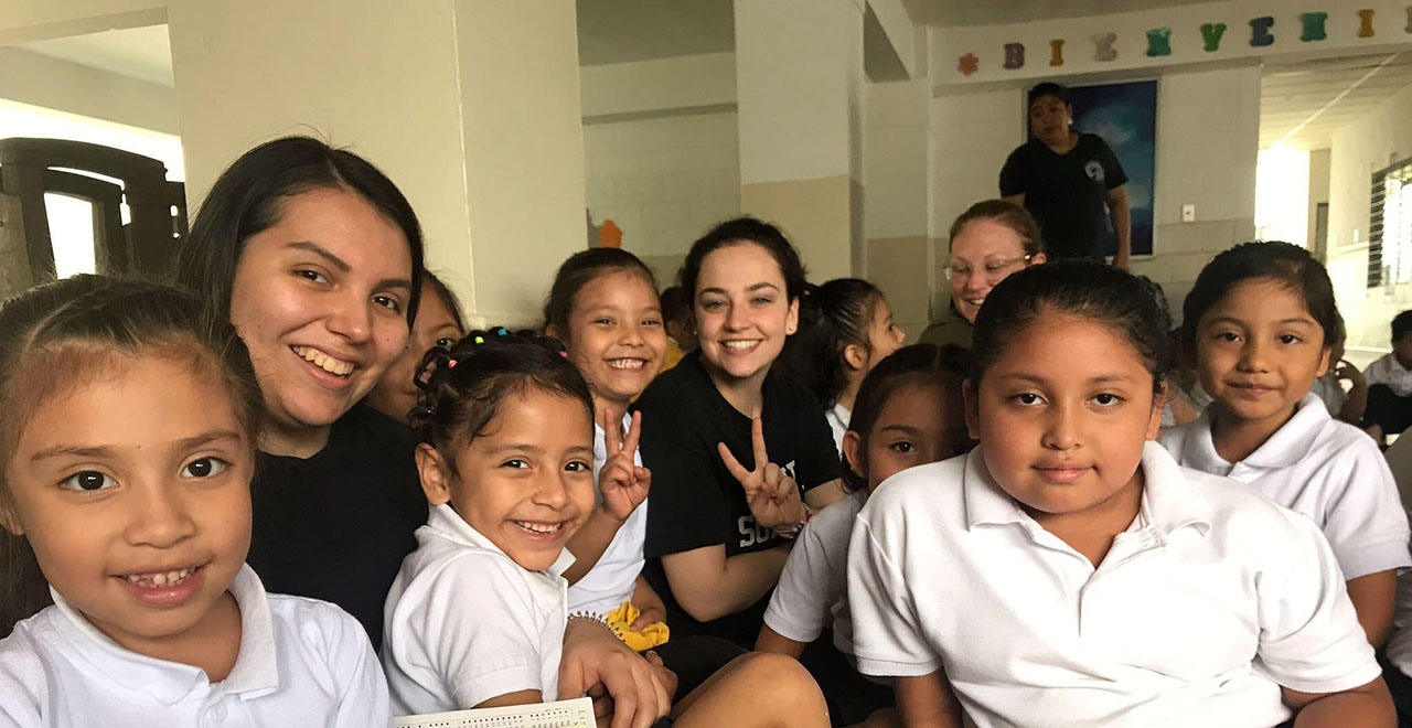 Seton Hall students volunteer in El Salvador through DOVE.