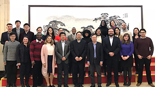 School of Diplomacy and International Relations visiting China group photo