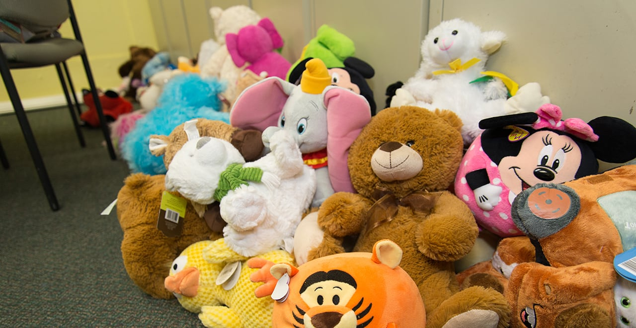 Stuffed Animals Donated for the DOVE Toy Drive