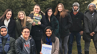 Group picture of the Seton Hall EcoChallenge Team x320