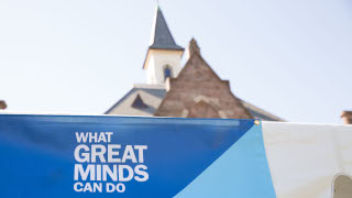 'What Great Minds Can Do' banner.