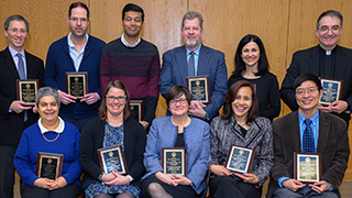 Faculty Researchers of the Year at the Awards Ceremony