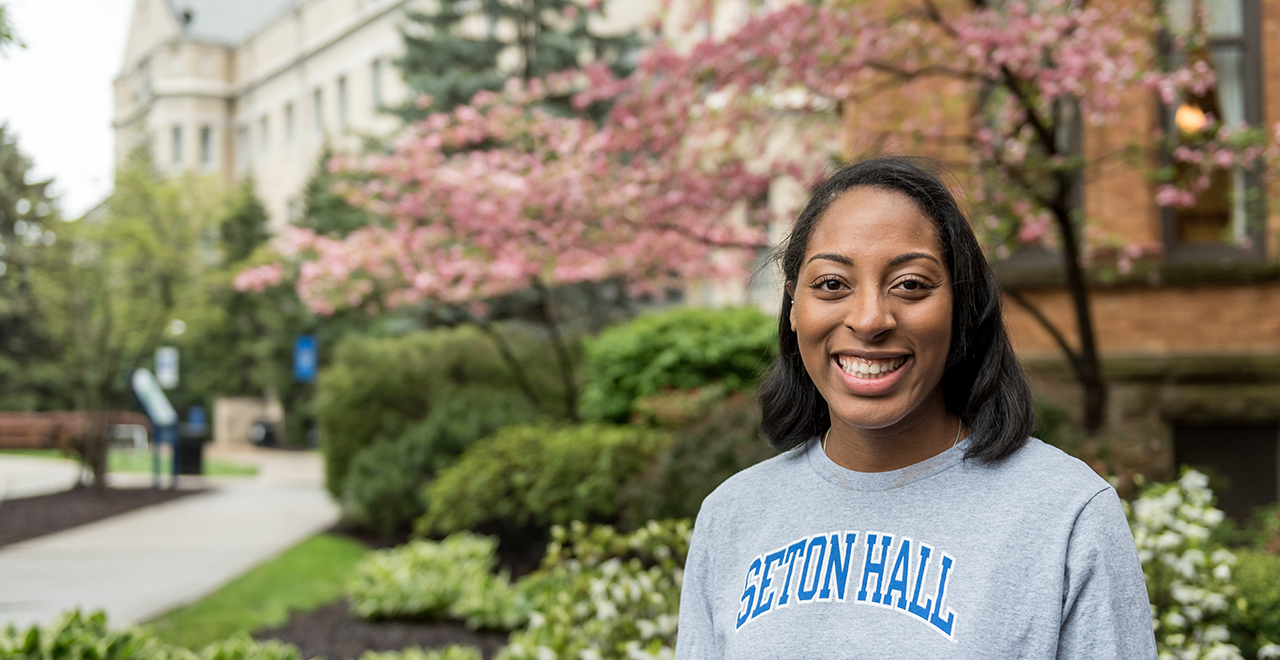 A Photo of Joy, a Graduate Student at Seton Hall