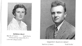 Patricia Kelly O'Callaghan '53 and her brother, Timothy Kelly '51