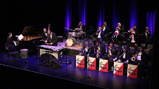 The Lionel Hampton Big Band performing.