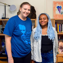 Incoming freshmen, Makena Meeks and Adanna Hylton, on Move-in-Day.