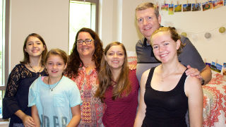 Incoming freshman, Phoebe Hall and family.