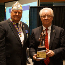 (L to R) Darryl Reid, American Legion State Commander, Bob Looby, NJ State Employment & Homeless Chairman, Rich Liebler