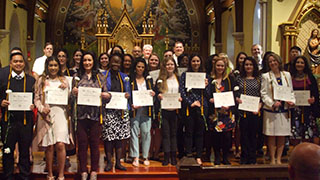 Group photo of the Delta Epsilon Sigma Honor Society