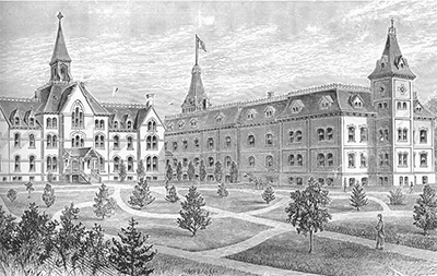 Seton Hall Campus in 1875