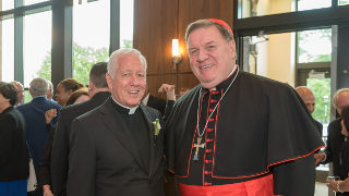Photo of Monsignor Robert Sheeran and Cardinal Joseph W. Tobin