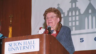 Sister Rose Thering at podium