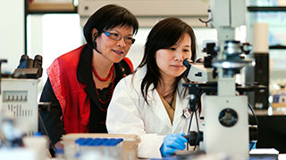 Professor Sulie Chang in a Research Lab