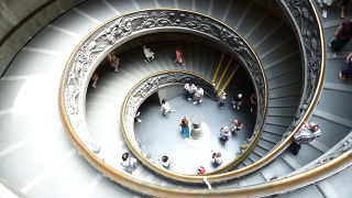 Vatican Staircase in Italy.