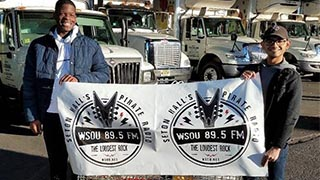 WSOU-FM sets station record in annual drive, collecting and donating more than 900 pounds of food to a local food bank.